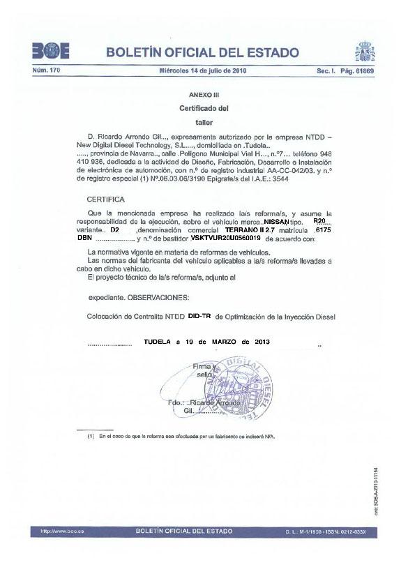 Certificado_doc_ taller Nissan Terrano II